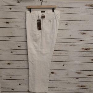 Perry Ellis cotton linen dress pants NWT